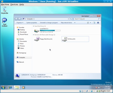 Windows 7 disk explorer
